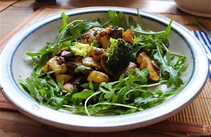 Topinambur,Champignon, Kartoffeln,roh gebraten (21)