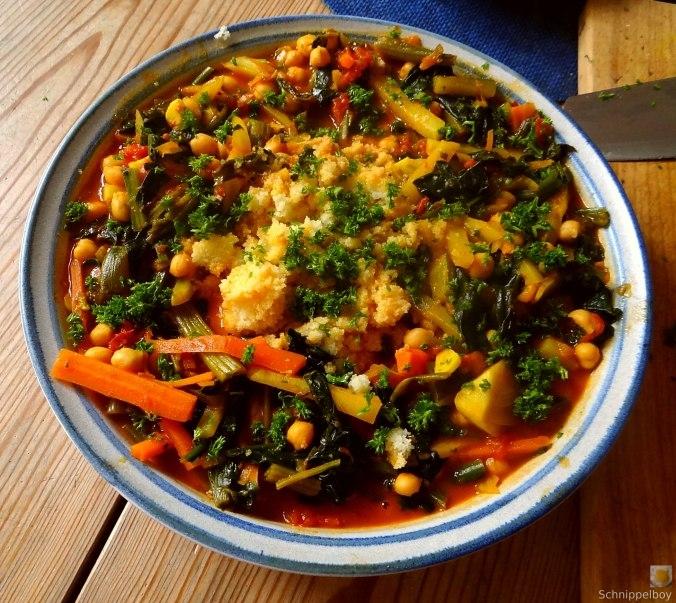 Kichererbsen, Gemüse, Couscous (4)
