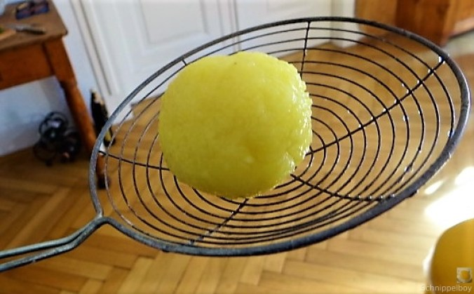 Klöße mit Pilzsauce,Obstsalat (19)
