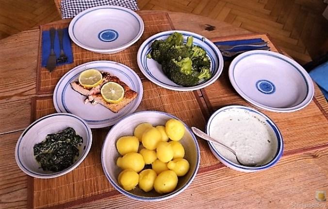 Lachs,Dip und Gemüse (5)