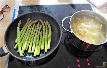 Bandnudeln,grüner Spargel, Tomaten und Bärlauchpesto (8)