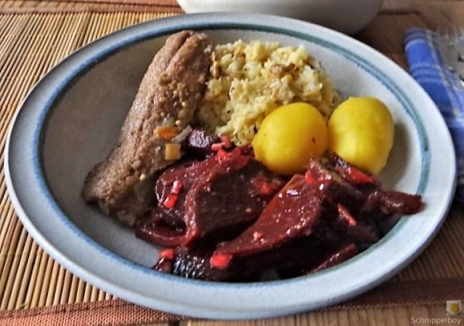 Waldorfsalat, Rote Bete Salat, Brathering (25)