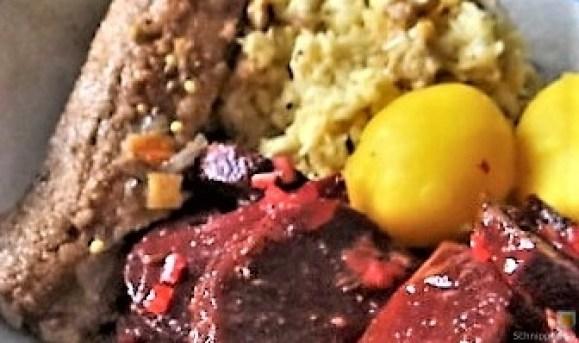 Waldorfsalat, Rote Bete Salat, Brathering (27)