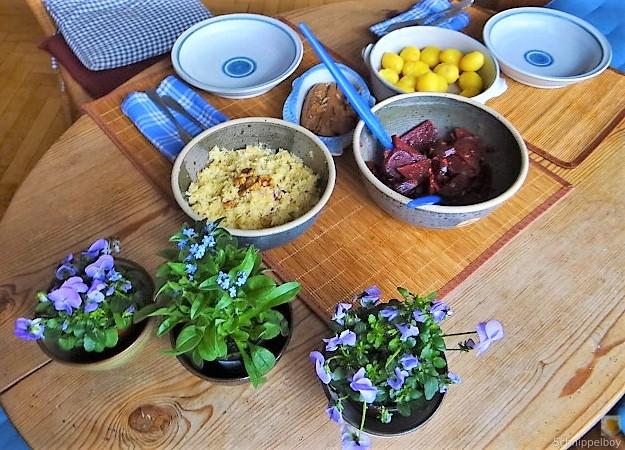 Waldorfsalat, Rote Bete Salat, Brathering (9)