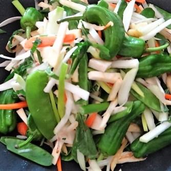 Wokgemüse und Erbs-Ricotta Creme (11)