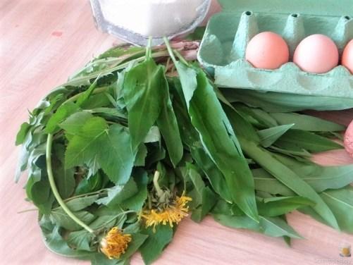 Eierpfannkuchen mit Knospen vom Bärlauch und Löwenzahn (11)