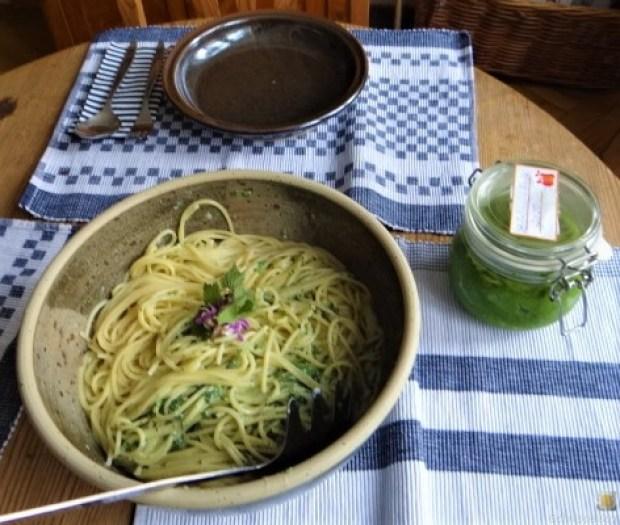 Spaghetti mit Gorgonzola-Brennesselsauce (6)