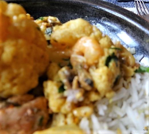 Blumenkohl Curry mit Meeresfrüchten (2)
