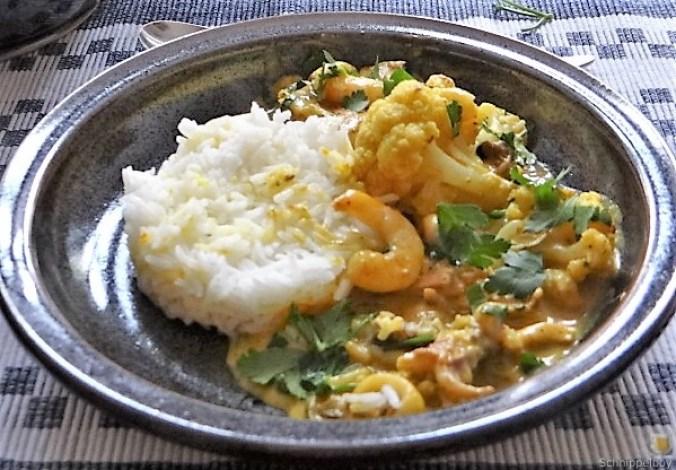 Blumenkohl Curry mit Meeresfrüchten (23)