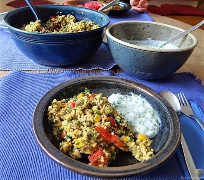 Hirsesalat und Tzatziki (6)