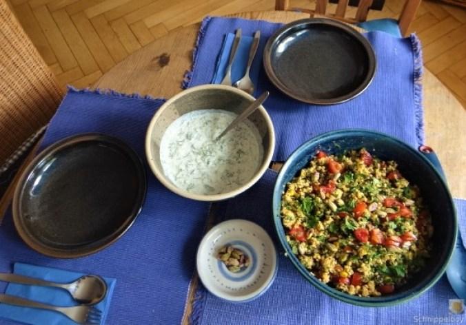 Hirsesalat und Tzatziki (7)