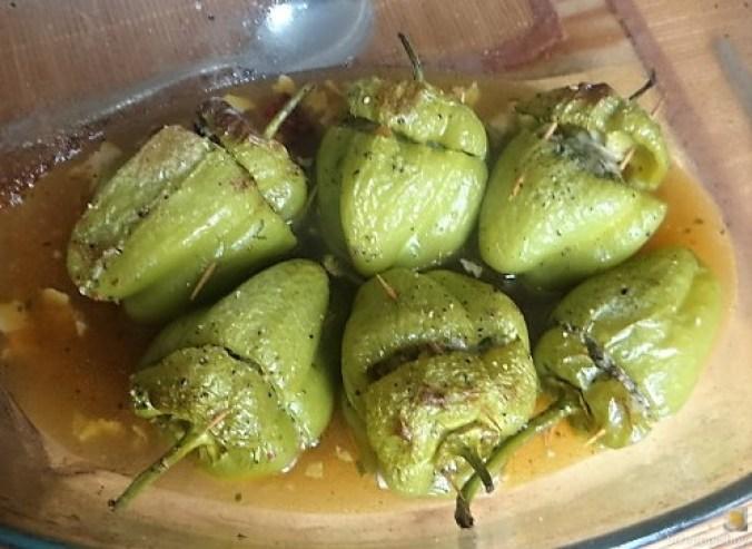 Paprika,grün,gefüllt (1)