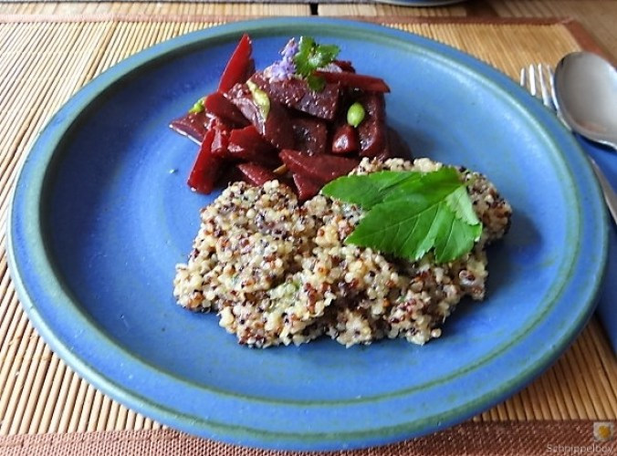Quinoa Risotto, Rote Beete Gemüse (2)
