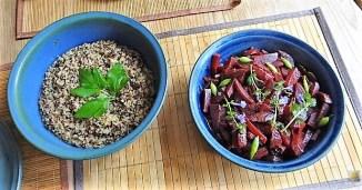 Quinoa Risotto, Rote Beete Gemüse (21)