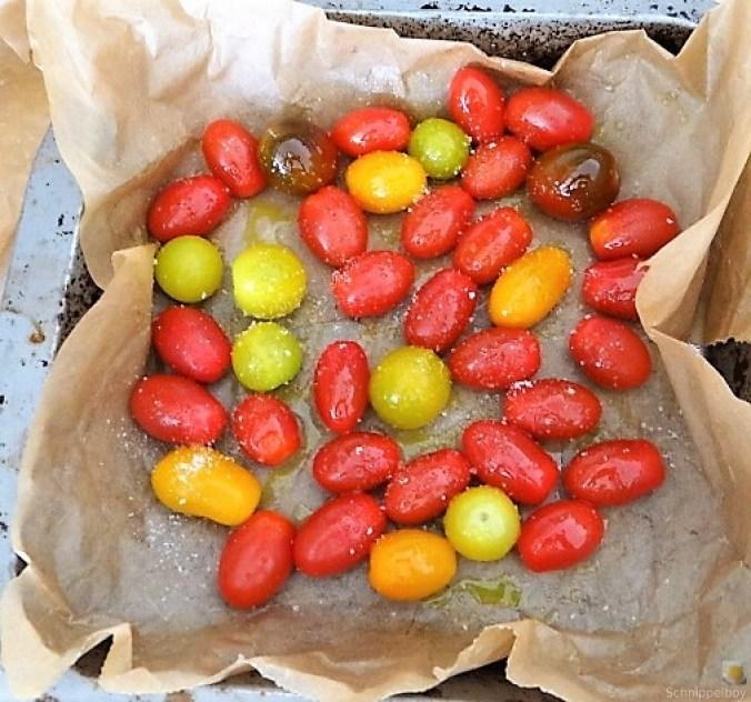 Grüner Spargel, Forelle, Tomaten auf Buchweizenpasta (15)