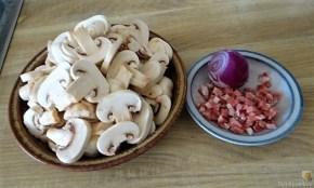 Kartoffel-Spinat Taler, Champignon, Tomaten-Avocado Salat (10)
