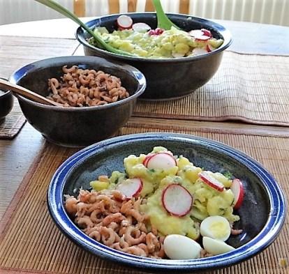 Kartoffelsalat, Nordseekrabben, Erdbeeren (17)