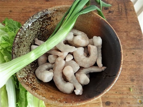 Roter Reis mit Chinakohl und Garnelen (10)