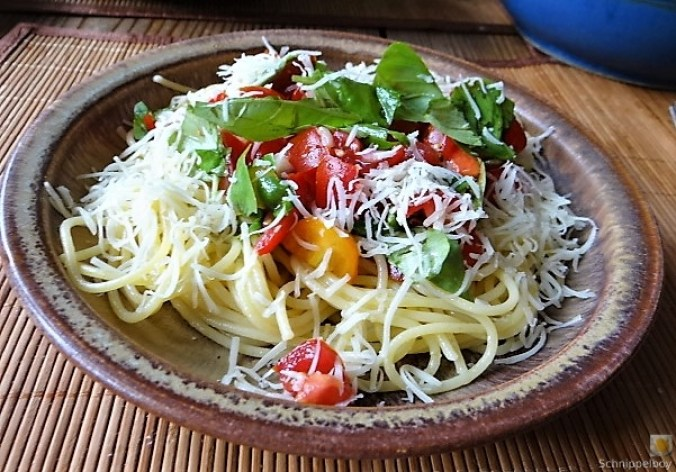 Spaghetti-Keka und Kirsch-Crumble (15)