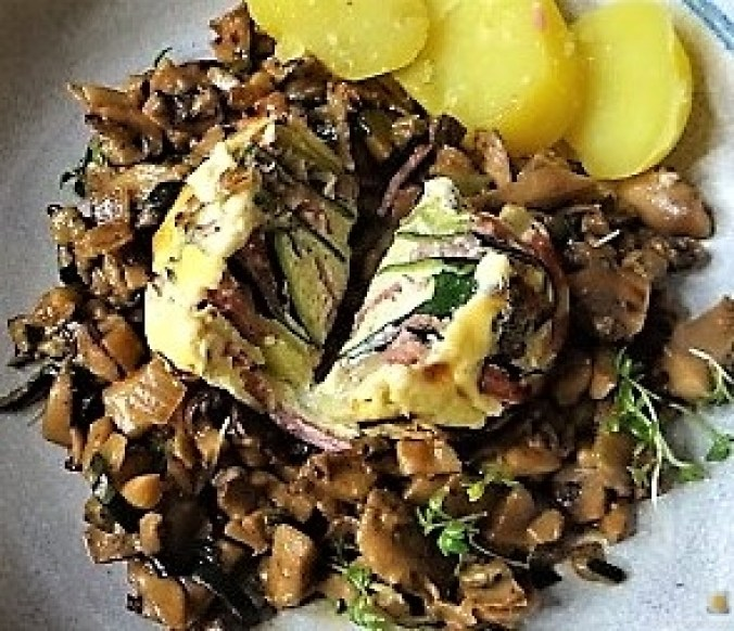 Zucchini Röllchen mit Champignon (24)