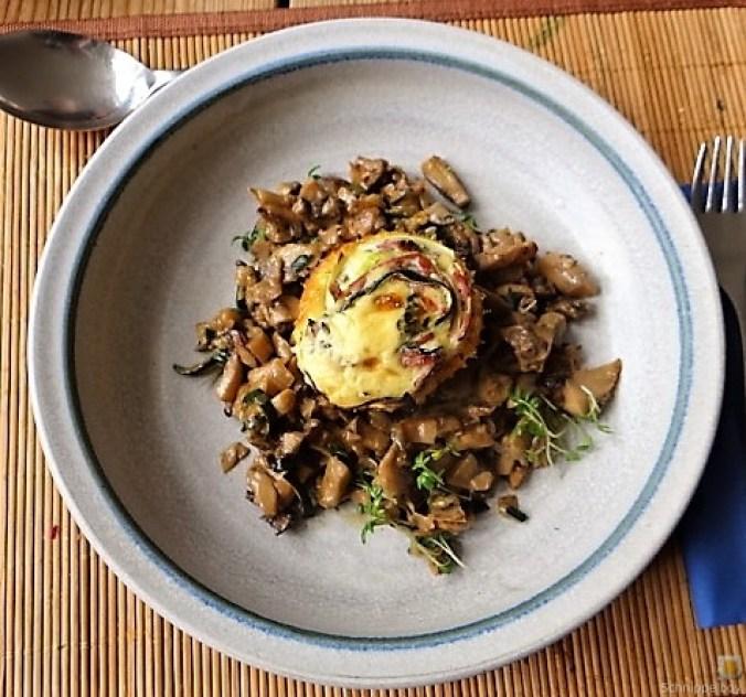 Zucchini Röllchen mit Champignon (4)