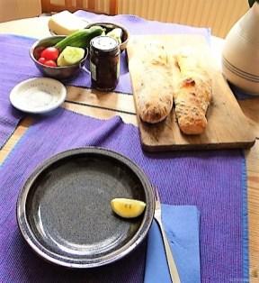 Baguette, Humus, Snack (10)