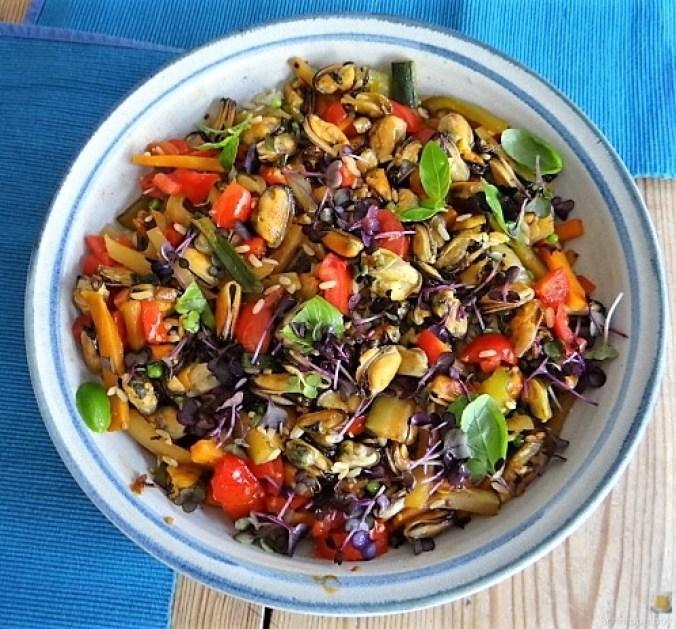 Gemüse,Reis,Muscheln (1)