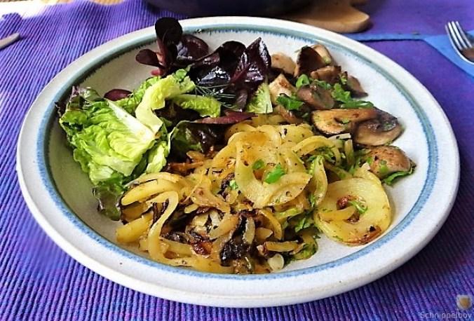Kartoffel Zoodles und Shiitake-Champignon Pfanne (24)