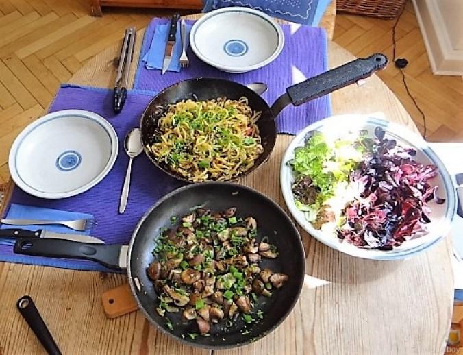 Kartoffel Zoodles und Shiitake-Champignon Pfanne (5)