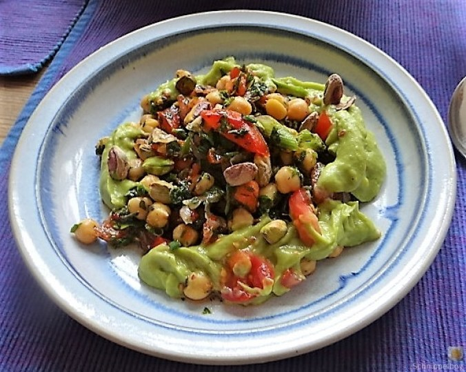 Kichererbsensalat mit Guacamole (2)