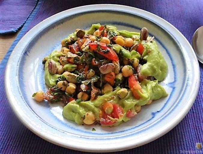Kichererbsensalat mit Guacamole (26)