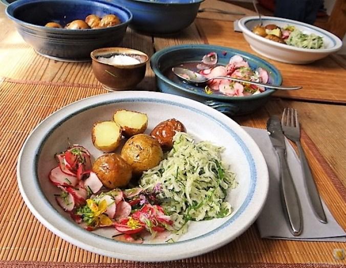 Ofenkartoffel mit Kohlrabi und Radieschensalat (29)