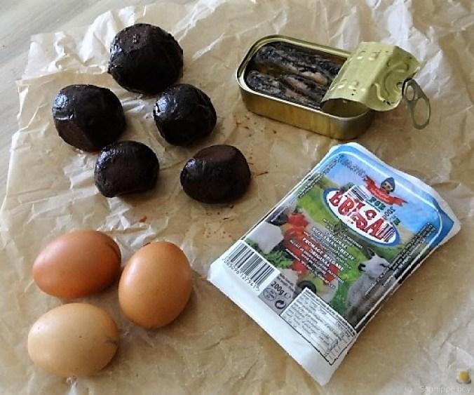 Rote Betesalat mit Feta und Sardinen (9)