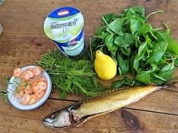 Butermilchsuppe mit geräuchertem Fisch (7)