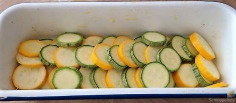 Ofen Zucchini mit Guacamole und Kloßscheiben vom Vortag (9)