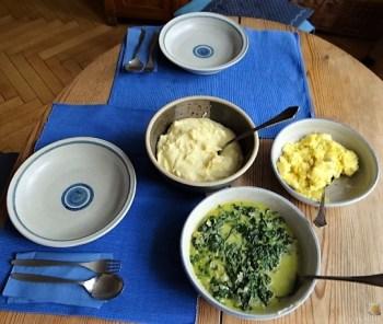 Pastinakenpüree mit Rahmspinat und Rührei (15)