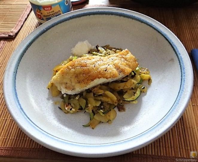 Rotbarsch auf Kartoffel und Zucchini (19)