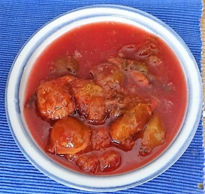 Spitzpaprika in Kokosmilch mit Minizucchini und Reisnudeln (4)