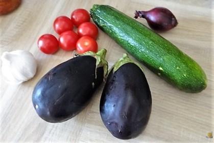 Zucchini Zoodles, Gemüse und Meeresfrüchte (8)