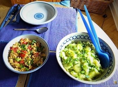 Kartoffelsalat mit Rührei (21)