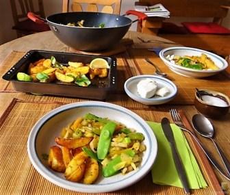 Gemüsepfanne und Ofenkartoffeln (22)