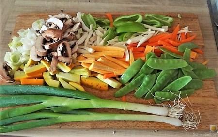 Gemüsepfanne und Ofenkartoffeln (9)