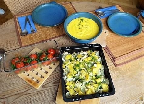 Safran-Polenta mit Fenchel-Orangen aus dem Ofen (25)