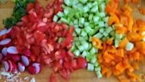 Bunter Salat und Quittenauflauf (10)