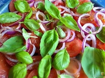 Champignon Quiche, Tomatensalat (20)