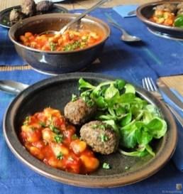 Köfte,Tomaten-Bohnensalat (19)