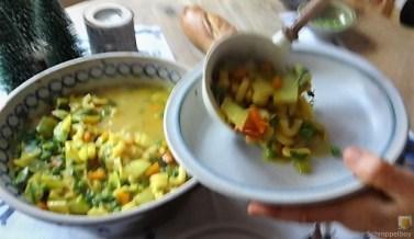Gemüsesuppe leicht orientalisch gewürzt (21)