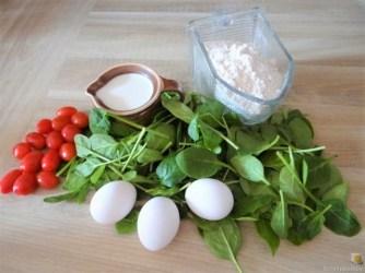 Spinatpfannkuchen mit Salaten (8)