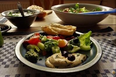 Baba Ganoush und Salat (24)