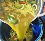 Gemüsesuppe mit Meeresfrüchten und Queller (17)